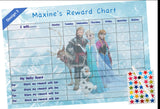 Personalised Frozen Themed A4 Laminated Reward Chart