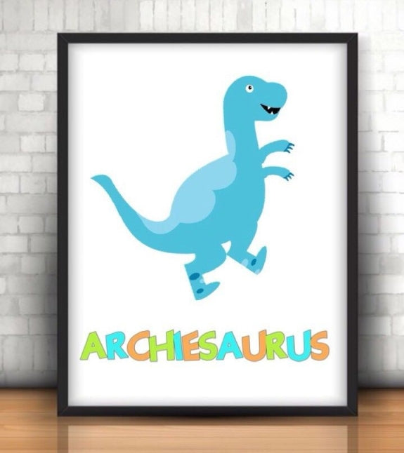 Personalised Dinosaur Any Nameasaurus A4 Print