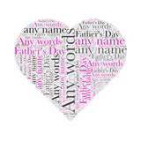 Personalised Heart Shaped WordArt A4 Print