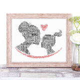 Personalised Mother Daughter WordArt A4 Print