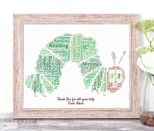 Personalised Very Hungry Caterpillar WordArt A4 Print