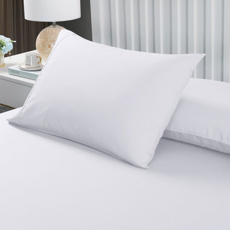 Royal Comfort 2000TC 3 Piece Fitted Sheet and Pillowcase Set Bamboo Cooling - King - White