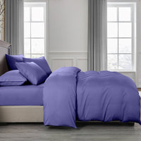 Royal Comfort 2000TC Quilt Cover Set Bamboo Cooling Hypoallergenic Breathable - King - Royal Blue