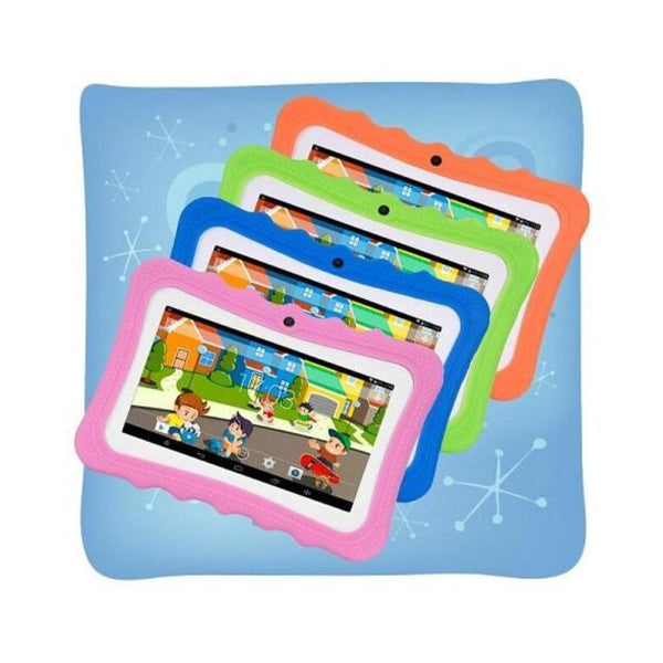 Childrens 7-Inch Android Tablet with Protective Case in 4 Colours