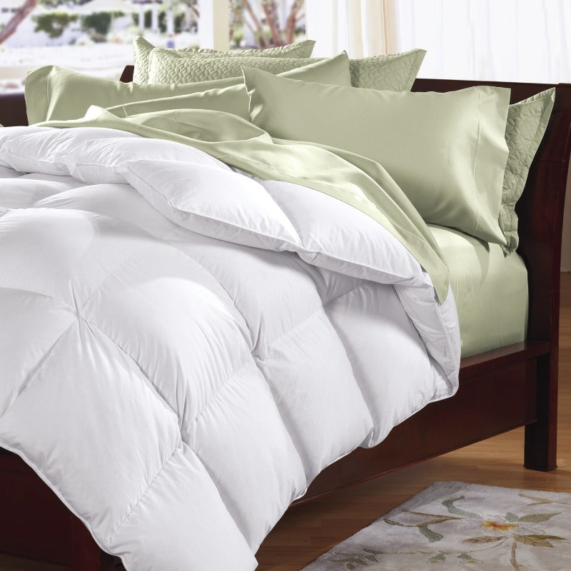 Royal Comfort Goose Feather Down Quilt 95% Feather 5% Down All-Seasons - Double
