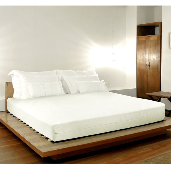 Memory Foam Mattress Hotel Quality Contour Bed Mattress with Removable Cover - King - White