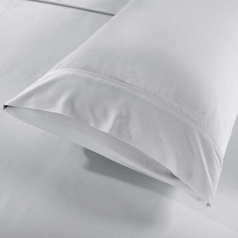 Royal Comfort Bamboo Blended Sheet & Pillowcases Set 1000TC Ultra Soft Bedding - Double - Warm Grey