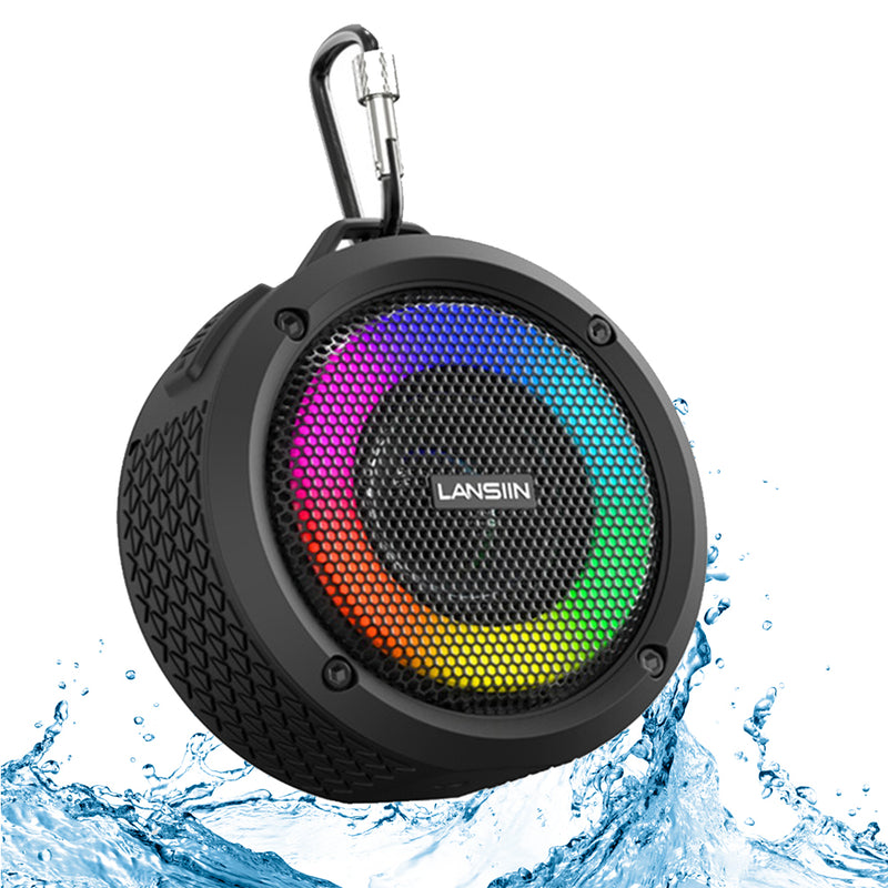 Waterproof Wireless Bluetooth Speaker with LED Lights_0