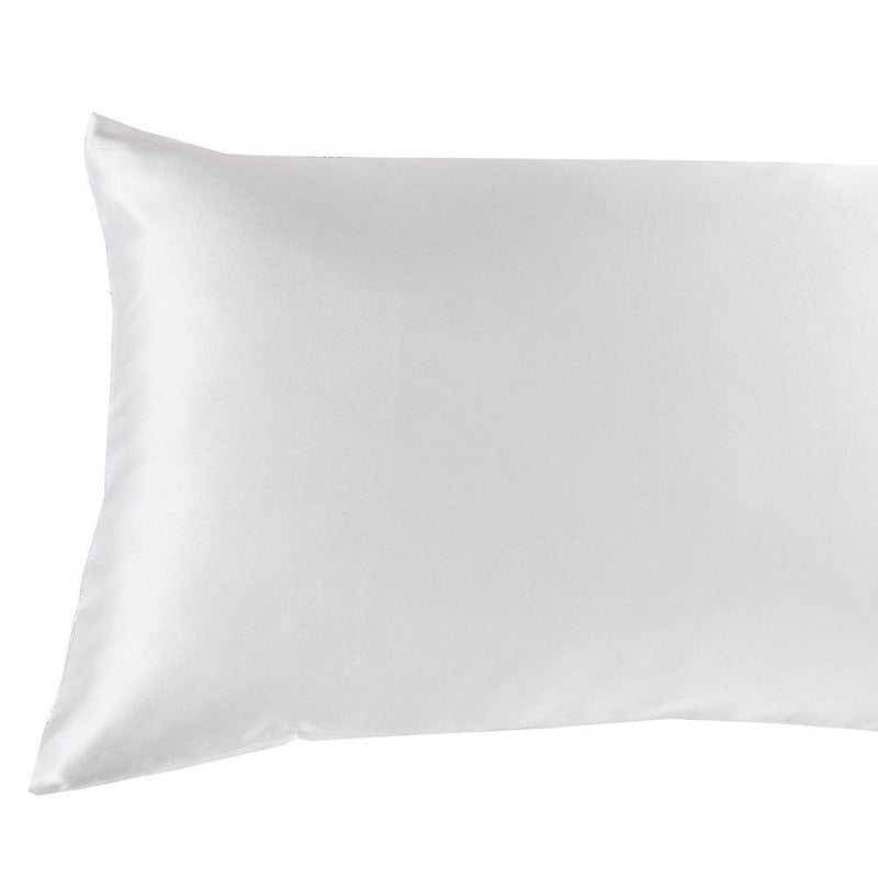 Royal Comfort Mulberry Soft Silk Hypoallergenic Pillowcase Twin Pack 51 x 76cm - White