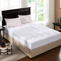 Royal Comfort 1000GSM Luxury Bamboo Fabric Gusset Mattress Pad Topper Cover - King - White
