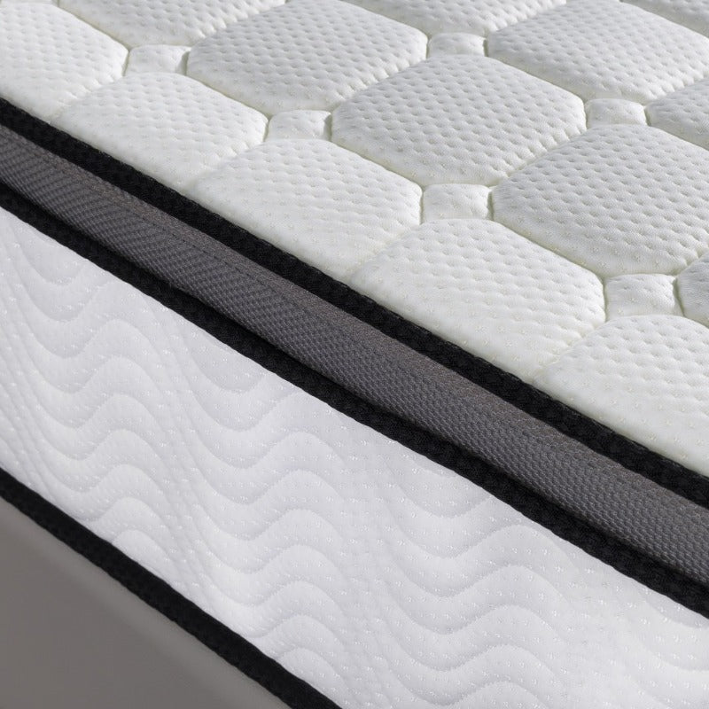 Ergopedic Mattress 5 Zone Latex Pocket Spring Mattress In A Box 30cm All Sizes - King - White  Grey  Black