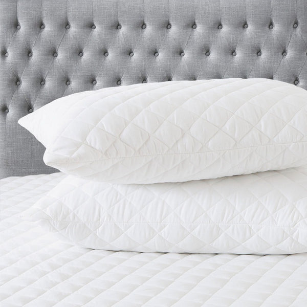 Royal Comfort Soft Touch Pillow & Mattress Protector Combo Set Hypoallergenic - Queen - White