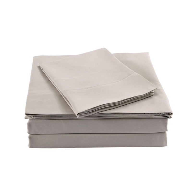 Royal Comfort Bamboo Blended Quilt Cover Set 1000TC Ultra Soft Luxury Bedding - Double - Grey
