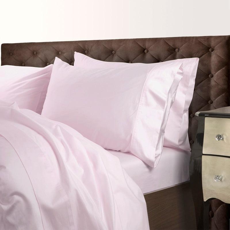 Royal Comfort 1000 Thread Count Cotton Blend Quilt Cover Set Premium Hotel Grade - Queen - Blush