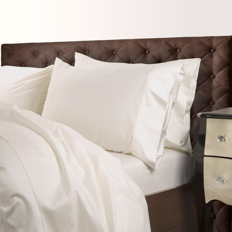 Royal Comfort 1000 Thread Count Cotton Blend Quilt Cover Set Premium Hotel Grade - King - Pebble