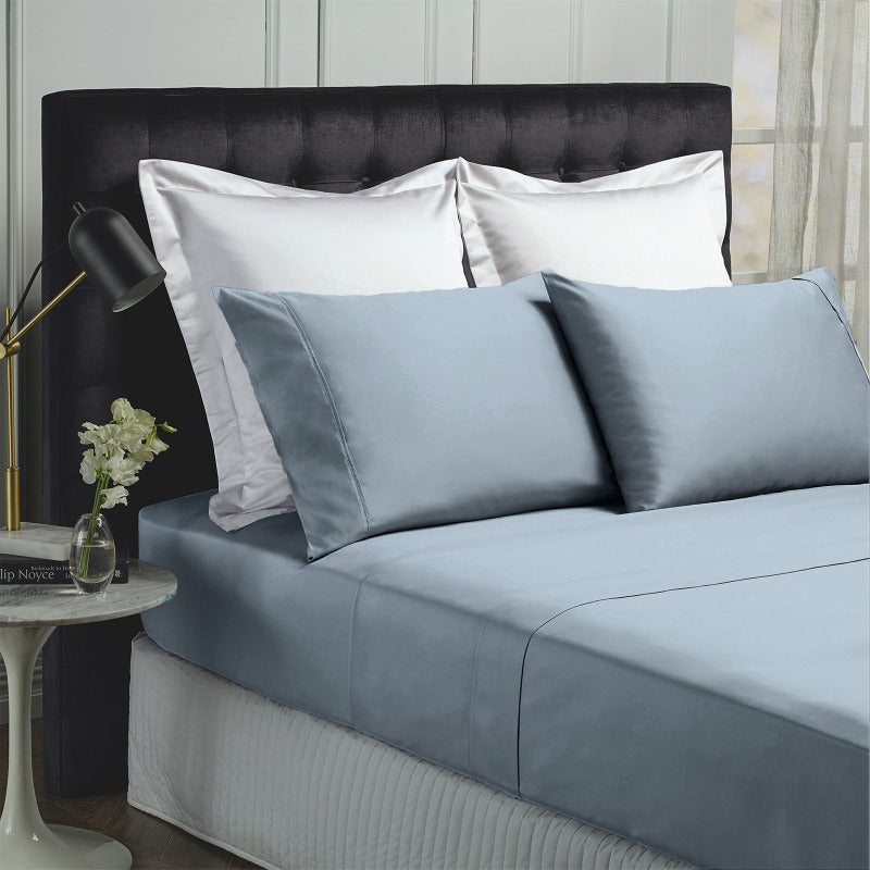 Royal Comfort 1000TC Bamboo Cotton Sheets Set - King - Blue Fog