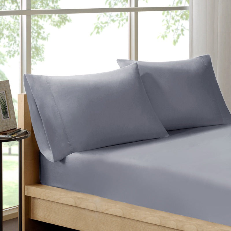 Royal Comfort 100% Organic Cotton Sheet Set 3 Piece Luxury 250 Thread Count - Double - Graphite