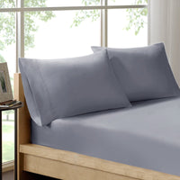 Royal Comfort 100% Organic Cotton Sheet Set 3 Piece Luxury 250 Thread Count - Queen - Graphite