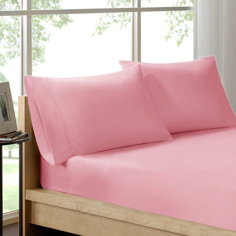 Royal Comfort 100% Organic Cotton Sheet Set 3 Piece Luxury 250 Thread Count - Queen - Blush