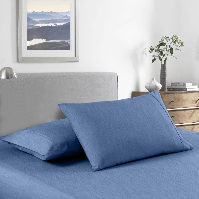 Royal Comfort 2000 Thread Count Bamboo Cooling Sheet Set Ultra Soft Bedding - Double - Denim