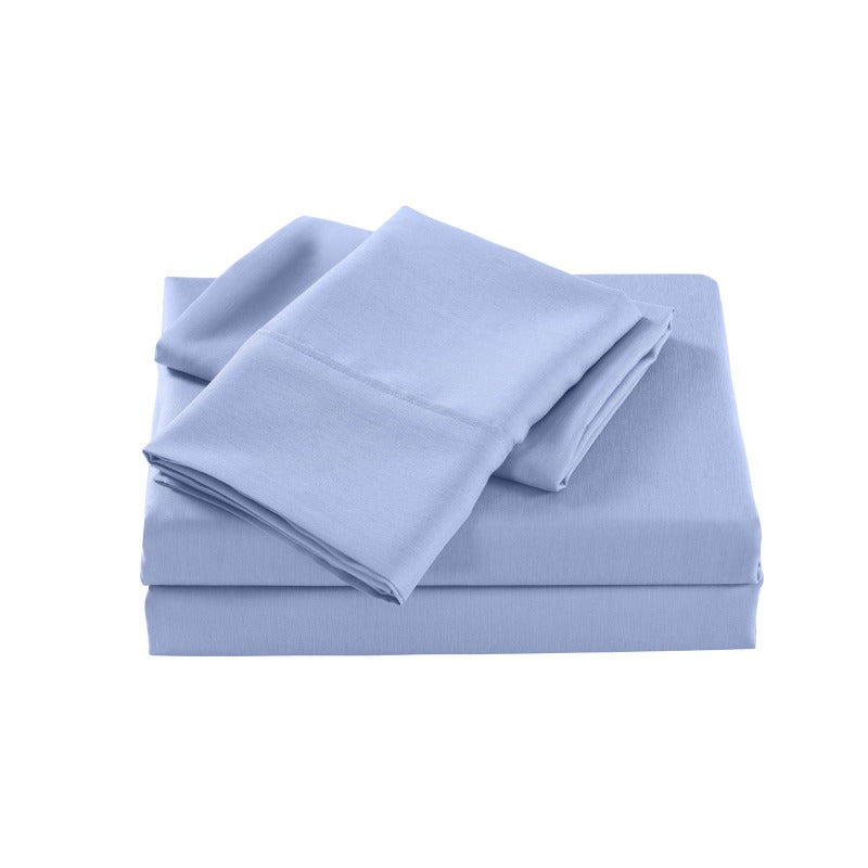 Royal Comfort 2000 Thread Count Bamboo Cooling Sheet Set Ultra Soft Bedding - Double - Light Blue