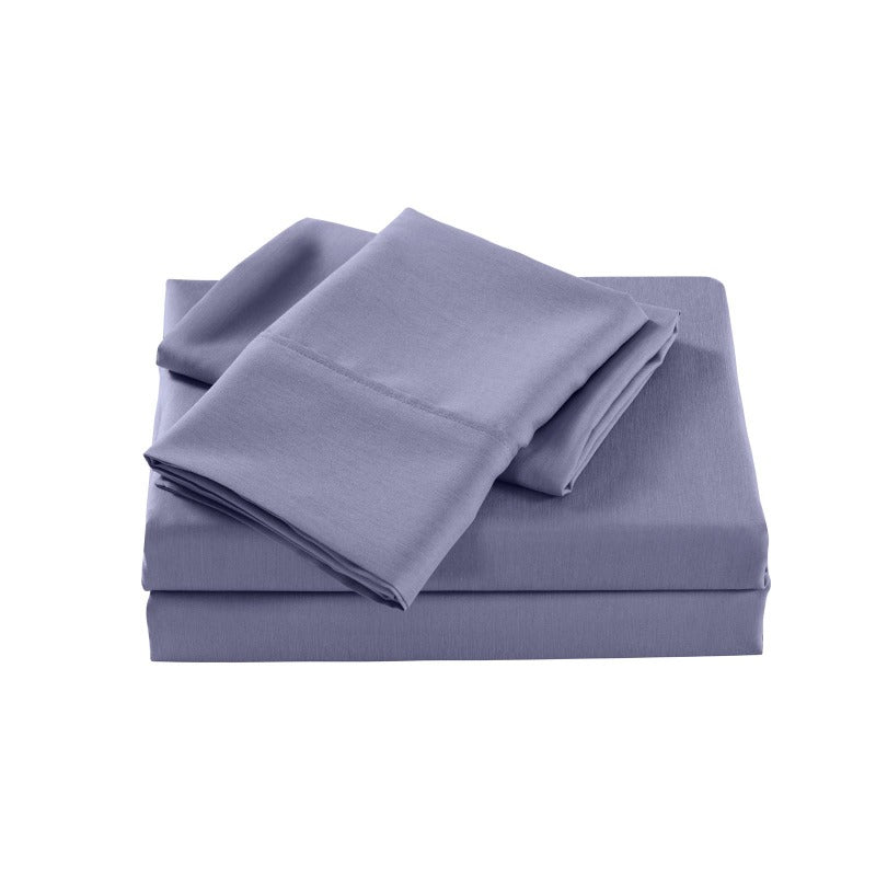 Royal Comfort 2000 Thread Count Bamboo Cooling Sheet Set Ultra Soft Bedding - Double - Lilac Grey