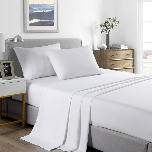 Royal Comfort 2000 Thread Count Bamboo Cooling Sheet Set Ultra Soft Bedding - King - White