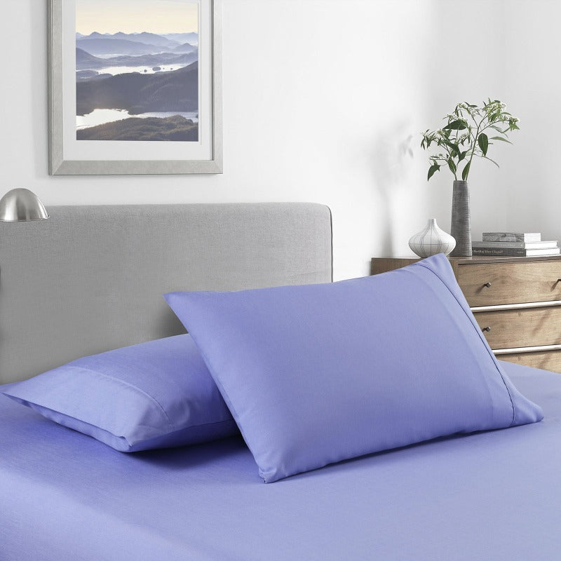 Royal Comfort 2000 Thread Count Bamboo Cooling Sheet Set Ultra Soft Bedding - King - Mid Blue