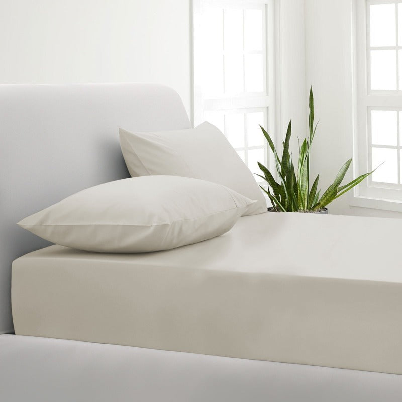 Park Avenue 1000TC Cotton Blend Sheet & Pillowcases Set Hotel Quality Bedding - Double - Pebble