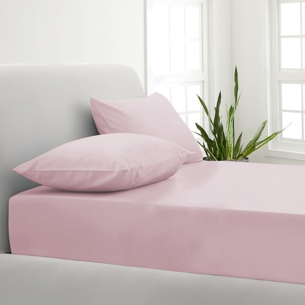 Park Avenue 1000TC Cotton Blend Sheet & Pillowcases Set Hotel Quality Bedding - Queen - Blush