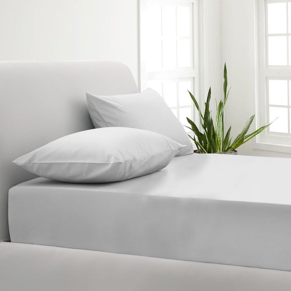 Park Avenue 1000TC Cotton Blend Sheet & Pillowcases Set Hotel Quality Bedding - King - White