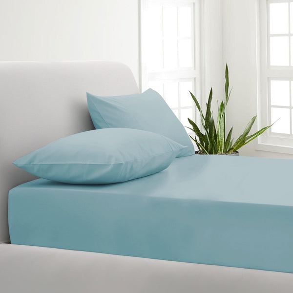 Park Avenue 1000TC Cotton Blend Sheet & Pillowcases Set Hotel Quality Bedding - Mega Queen - Mist