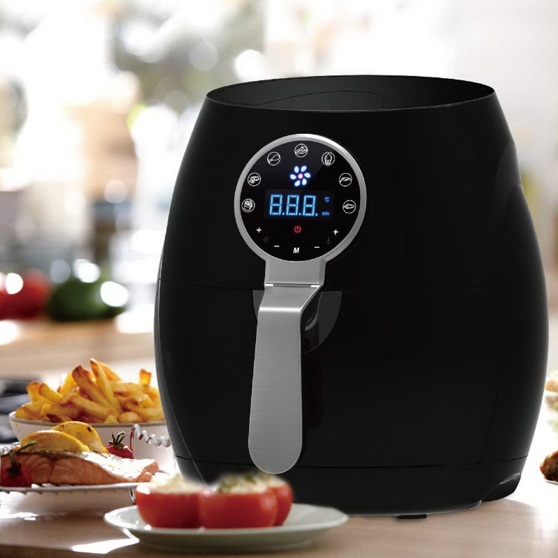 Kitchen Couture Black 5L Digital Air Fryer Low Fat Fast Cooking LCD Touch Screen