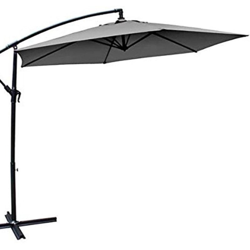 Milano 3M Outdoor Umbrella Cantilever Sun UV Patio Garden Beach Shade Deck Stand - Grey