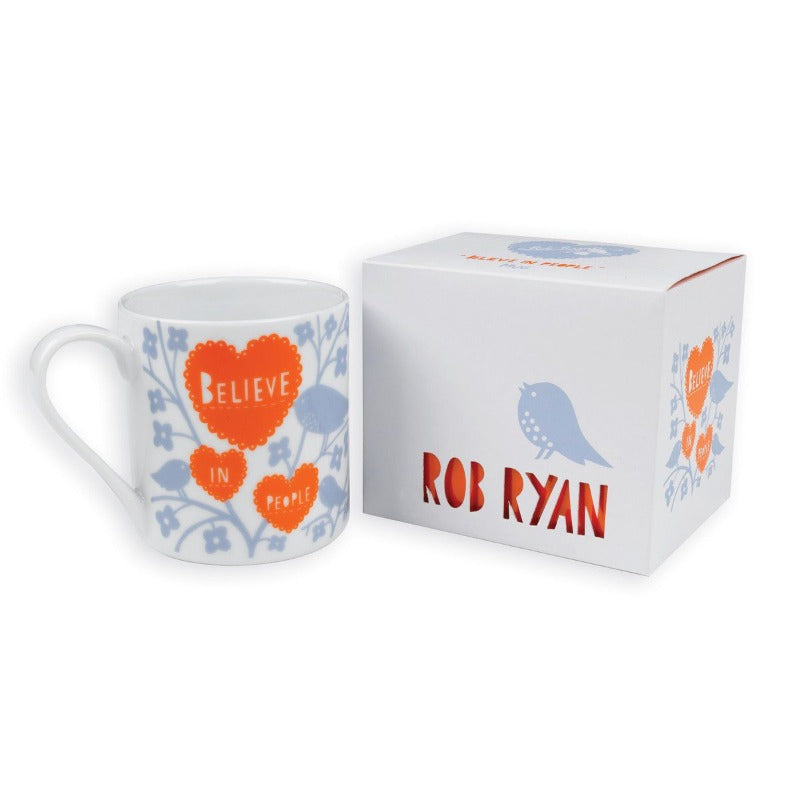 Rob Ryan Designer Mug Believe in People Contemporary Inspirational Design