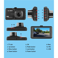 "Dash Cam with 3"" Screen"