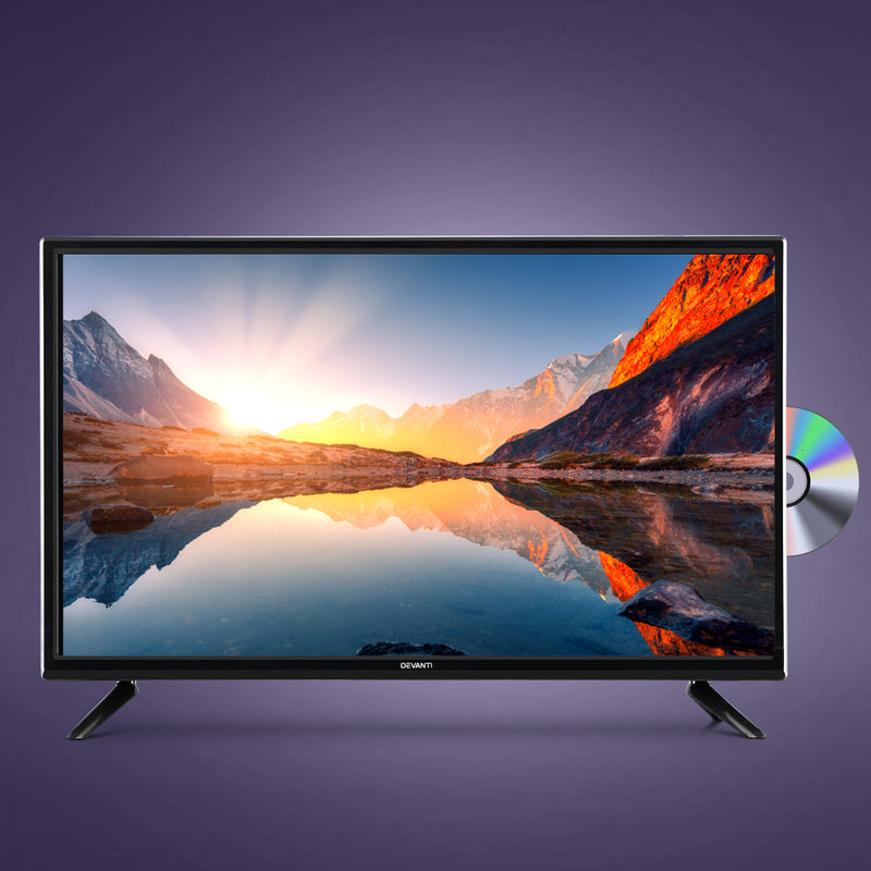 "Devanti 24"" Inch LED 12 Volt TV with Built-In DVD"