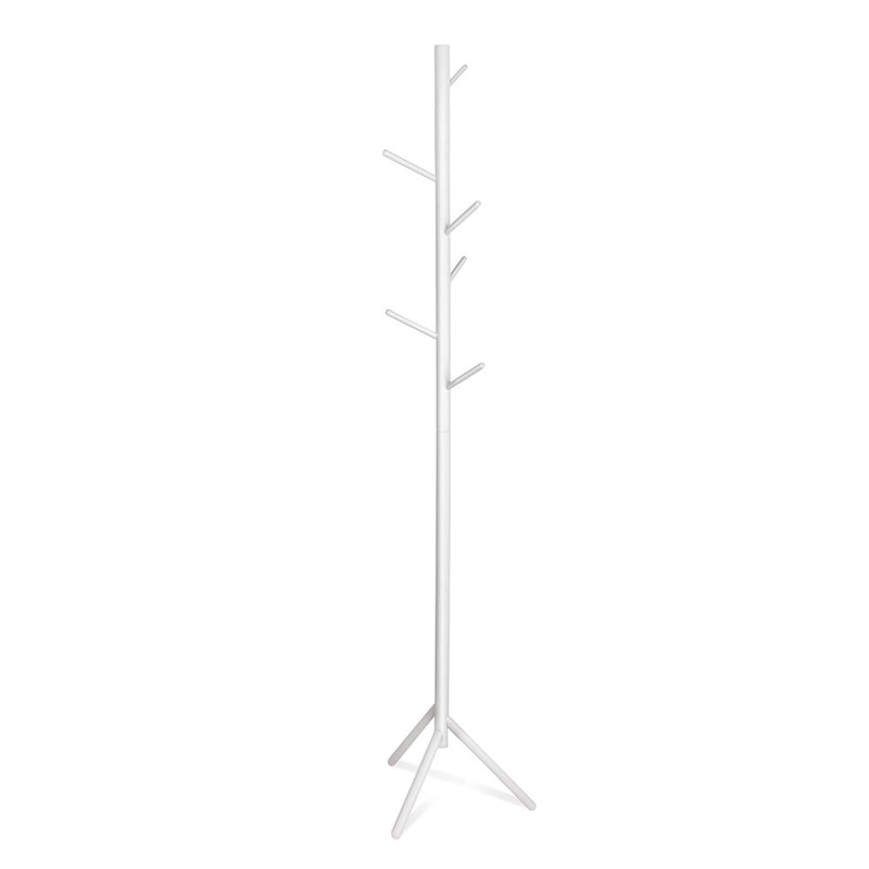 Artiss Wooden Clothes Stand with 6 Hooks - White