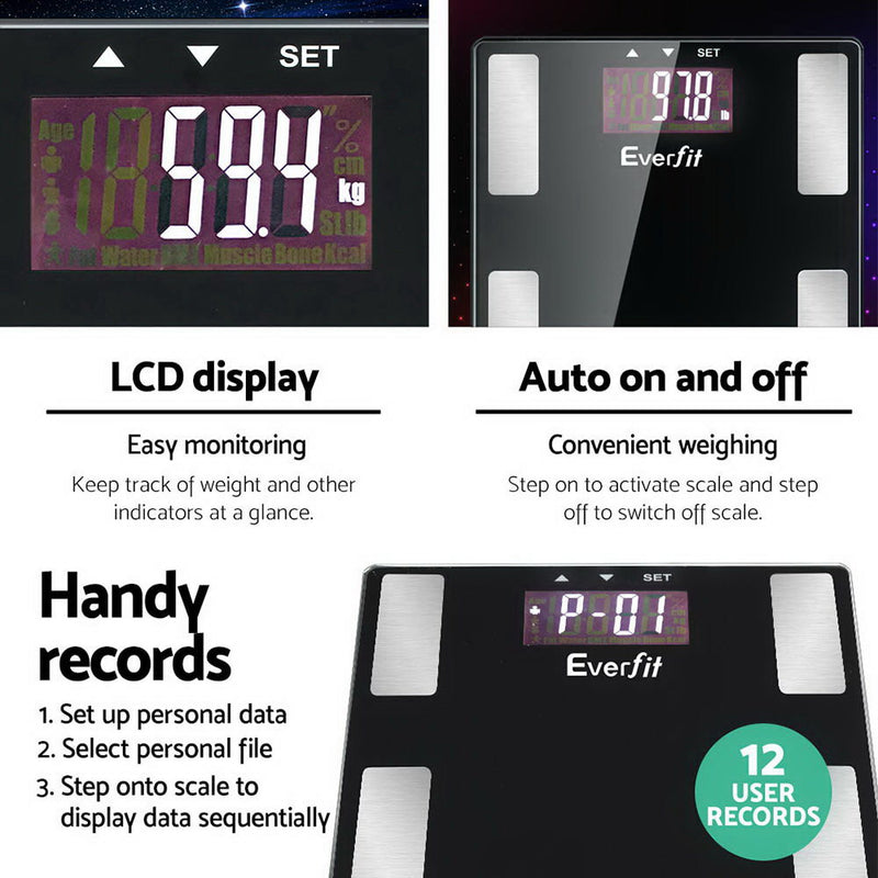 Everfit Electronic Digital Scale 180kg