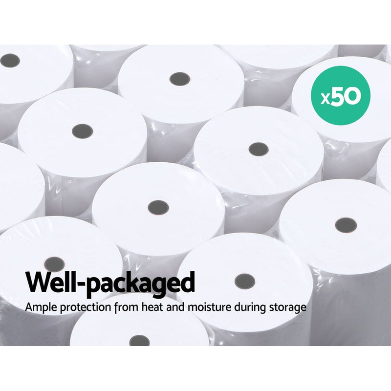 100 Bulk Thermal Paper Rolls 80x80 mm Cash Register Receipt Roll Eftpos Papers
