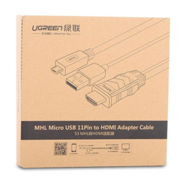 UGREEN MHL Micro USB 11 Pin to HDMI Adater Cable 2M (20139)