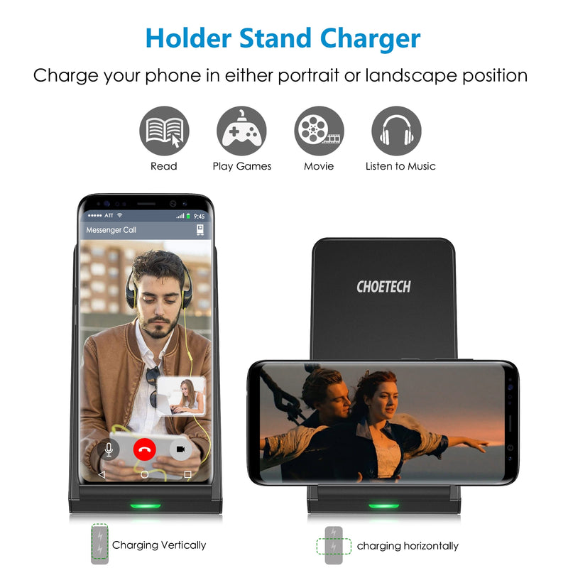 Choetech T524-S QI Fast Wireless Charger Stand