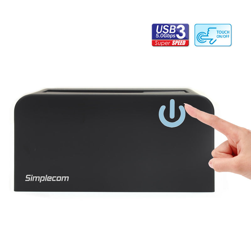 "Simplecom SD326 USB 3.0 to SATA Hard Drive Docking Station for 3.5"" and 2.5"" HDD SSD"