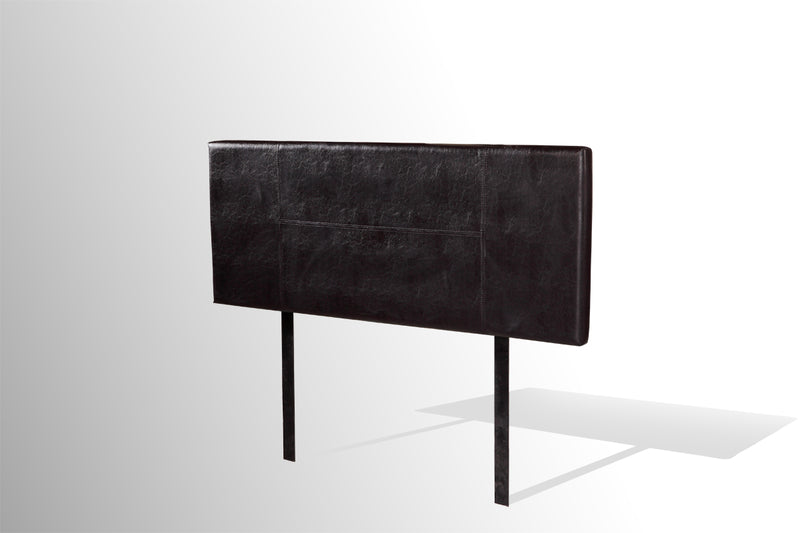 PU Leather Double Bed Headboard Bedhead - Black