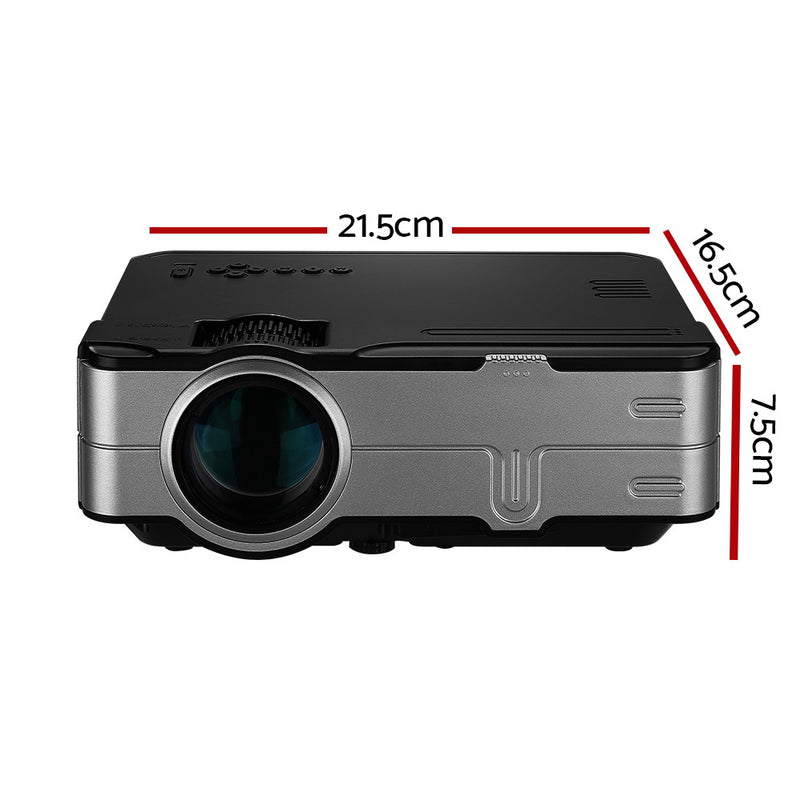 Devanti Mini Video Projector Portable HD 1080P 1200 Lumens Home Theater USB VGA