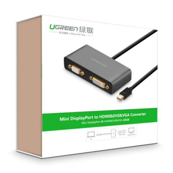 UGREEN 3-in-1 Mini DisplayPort to HDMI&VGA&DVI converter - black (10440)