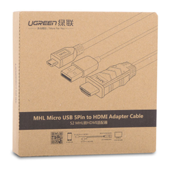 UGREEN MHL Micro USB 5 Pin to HDMI Adater Cable 2M (20133)