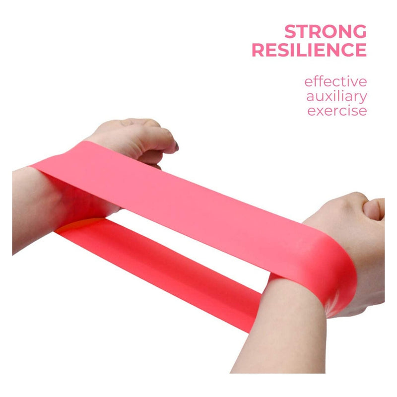 Brand New Product 2020 - Latex Bands Resistance  - 5 Bands Set - Exercise Workout Booty Bands for Legs and Butt At Home & Gym - By Madfit - Madshot