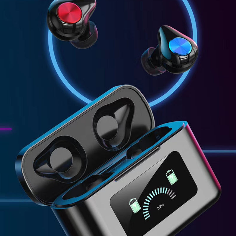 Madbuds 5.0 - Portable True Wireless Bluetooths M-5.1 Earbuds Noise Cancelling - TWS With 3000mah Charging BoxEarphones & Headsets - Madshot