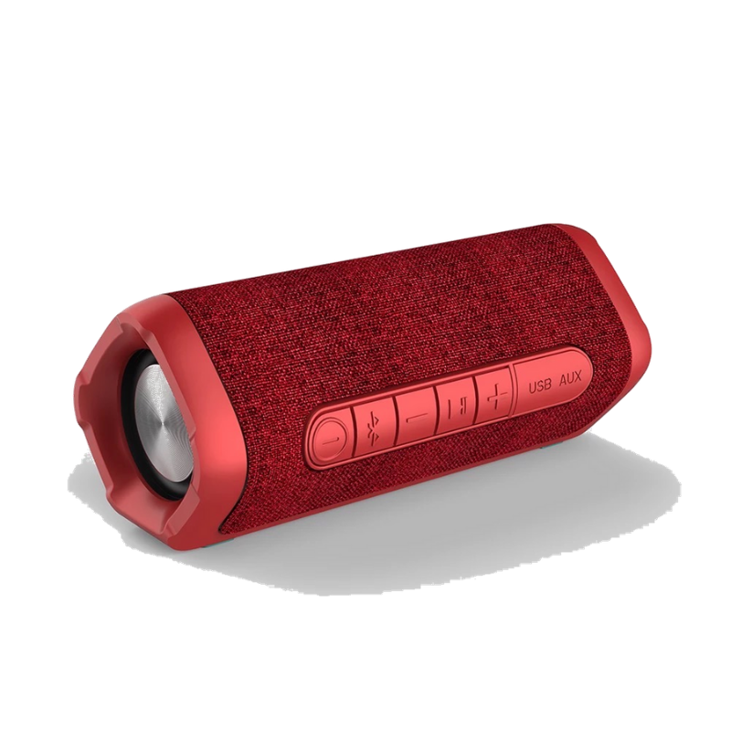 MDT Twin Boost-TWS Bluetooth 5.0 Speaker Stereo 18W |Dual Pairing |Waterproof With MicTWS Portable Speakers Red - Madshot